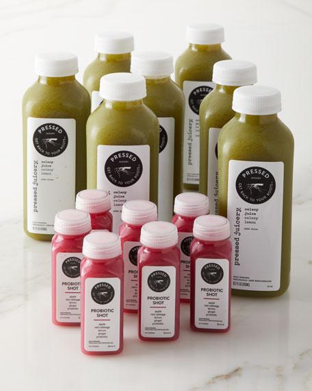 Pressed Juicery 7 Day Celery Juice Bundle and Shots