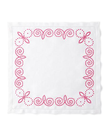 Deborah Rhodes Henna Embroidery Napkin