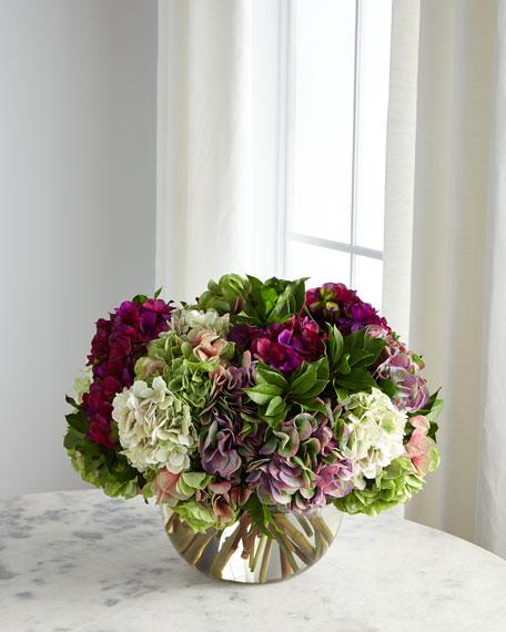 NDI Hydrangea Purple & Green Florals