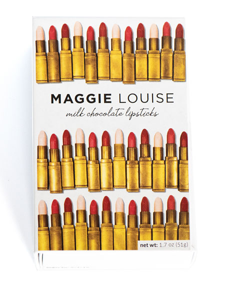 Maggie Louise Lipstick Trio Chocolate Gift Boxes, Set of 4