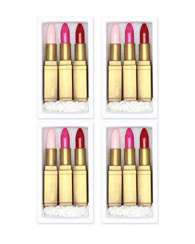 Lipstick Trio Chocolate Gift Boxes  Set of 4