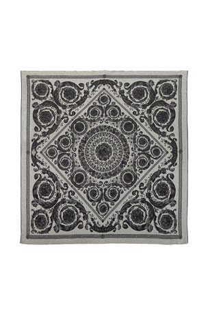 Versace Cashmere-Wool Throw Blanket