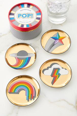 Jonathan Adler POP Coasters, Set of 4