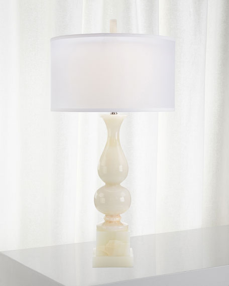 John-Richard Collection Classic White Jade Table Lamp
