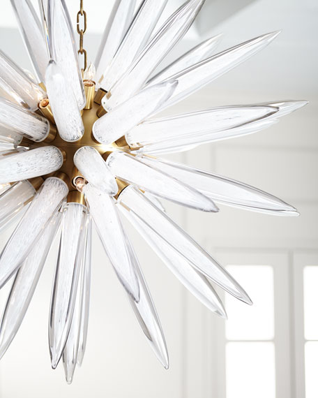 John-Richard Collection Hand-Blown 16-Light Glass Pendant
