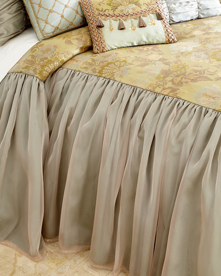 Dian Austin Couture Home Petit Trianon Skirted King Coverlet