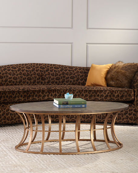 Image 1 of 4: Mia Oval Coffee Table