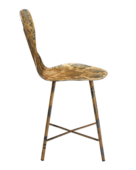 Image 2 of 3: Jamie Young Mildred Acid Washed Metal Chair