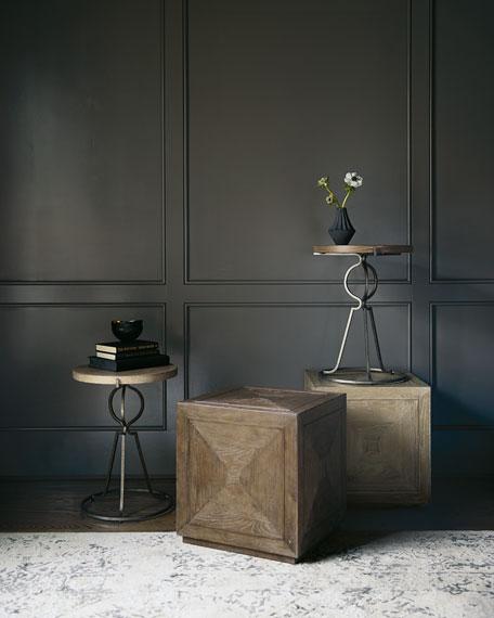 Bernhardt Rustic Patina Cube Side Table