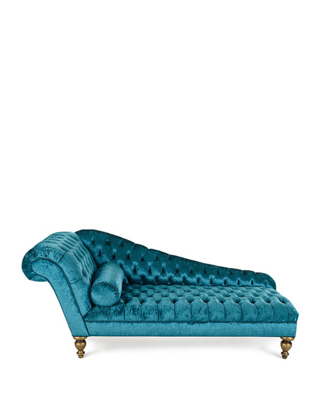 Image 3 of 5: Old Hickory Tannery Stacey Tufted Chaise