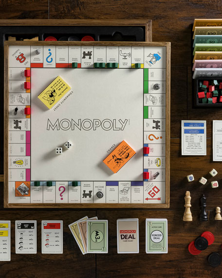 WS Game Company Monopoly 5-in-1 Deluxe Vintage Edition