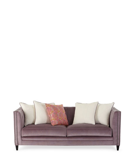 Image 2 of 4: Old Hickory Tannery Zoey Channel Tufted Sofa, 85""