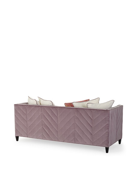 Image 4 of 4: Old Hickory Tannery Zoey Channel Tufted Sofa, 85""