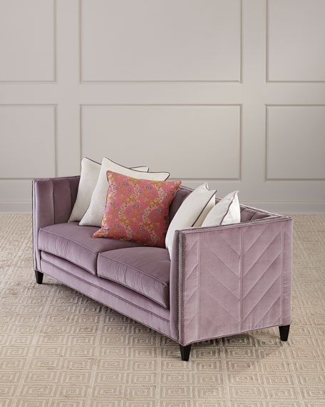 Image 1 of 4: Old Hickory Tannery Zoey Channel Tufted Sofa, 85""