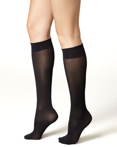 Wolford Velvet de Luxe 50 Denier Knee-High Socks