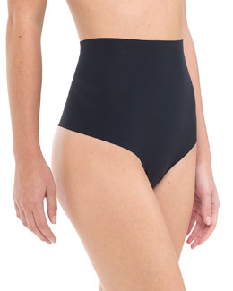Commando High-Waist Control Thong, Black