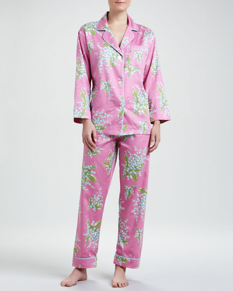 Lily of the Valley Classic Sateen Pajamas