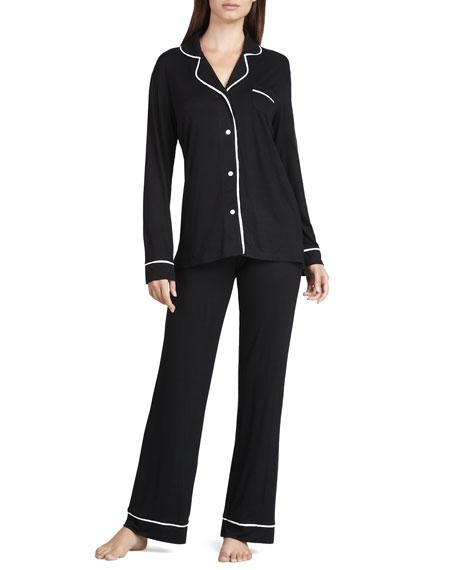 CosabellaJersey Pajamas, Black/Ivory
