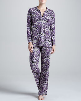 Bedhead BLK PCADILLY PAISLY TUNIC PJ