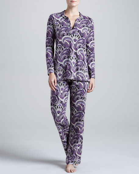 Picadilly Paisley Tunic Pajamas
