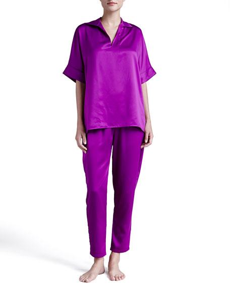 Silky Charmeuse Modern Pajamas