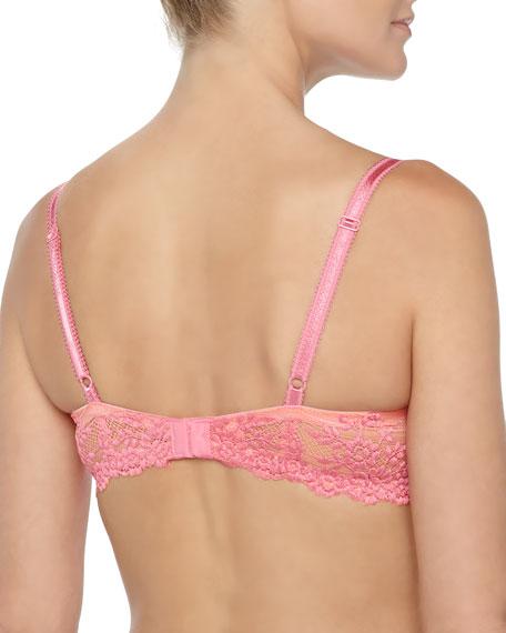 Embrace Lace Contour Bra, Coral/Pink