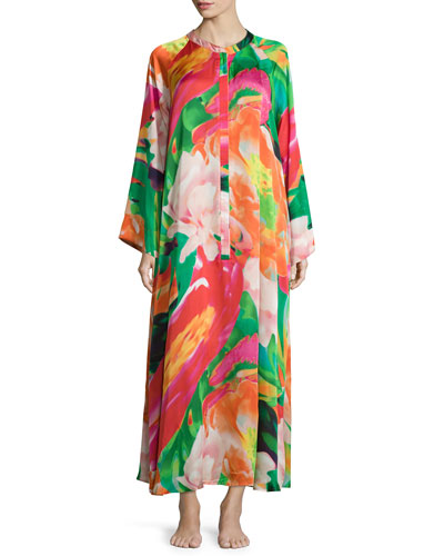 Garbo Printed Zip Caftan, Multi, Women