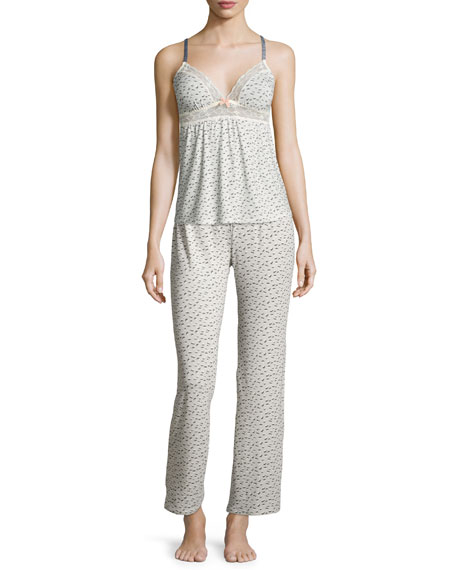 Eberjey Foxxy Printed Lace-Trim Camisole, Foxtail