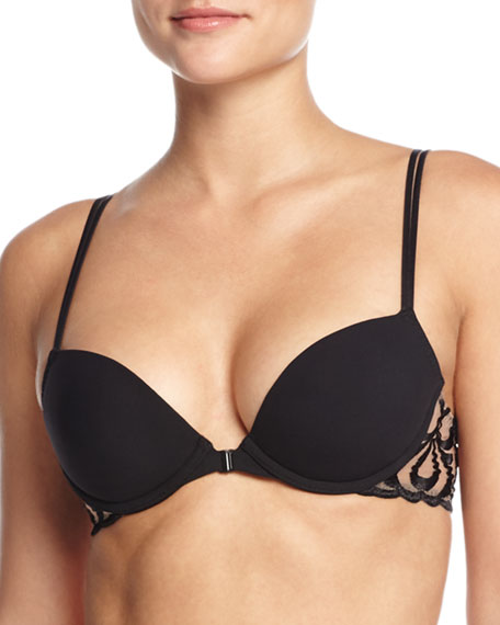 Simone Perele Look Embroidered Push-up Bra, Black