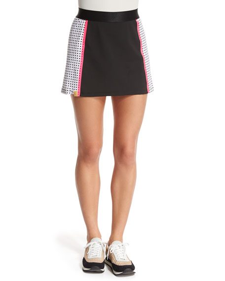 Monreal London Squad Perforated Jersey Skirt