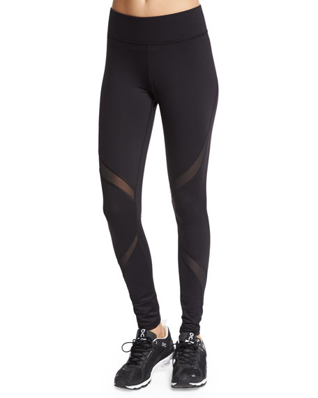 Michi Supanova Sport Leggings W/Mesh Inset, Black