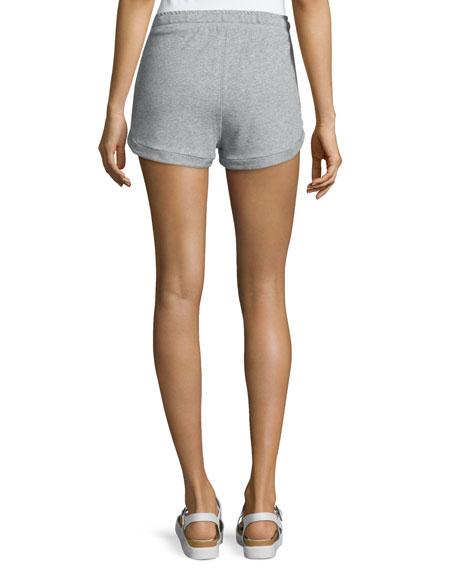 Kristy Drawstring-Waist Shorts, Heather Gray