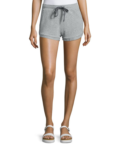 Skin Kristy Drawstring-Waist Shorts, Heather Gray