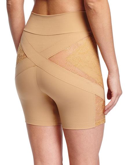 Shape Allure Lace-Panel Shorts
