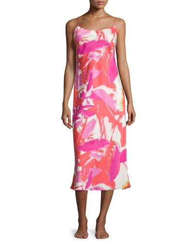Lucent Palms Gown, Duchess Rose