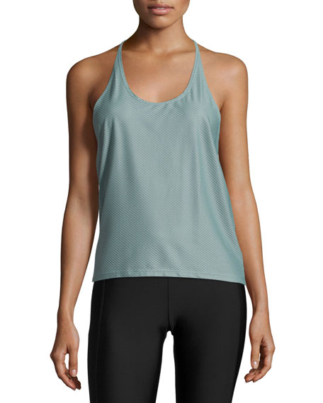 Onzie T-Back Mesh Athletic Tank, Wingspan Strappy-Front Sports