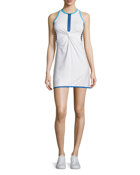 Monreal London Twist-Front Tennis Dress, Booty Boost Solid