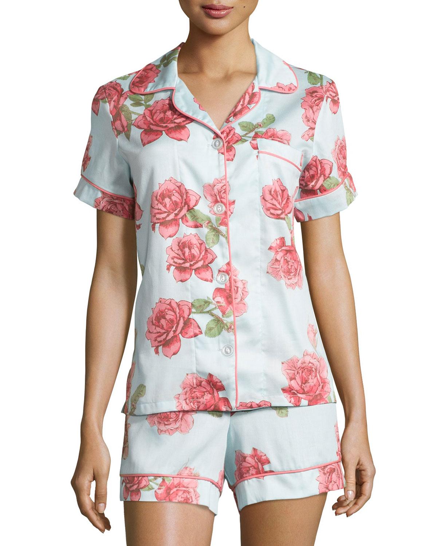 Bedhead Vintage Rose-Print Short Pajama Set 93d7dffe1