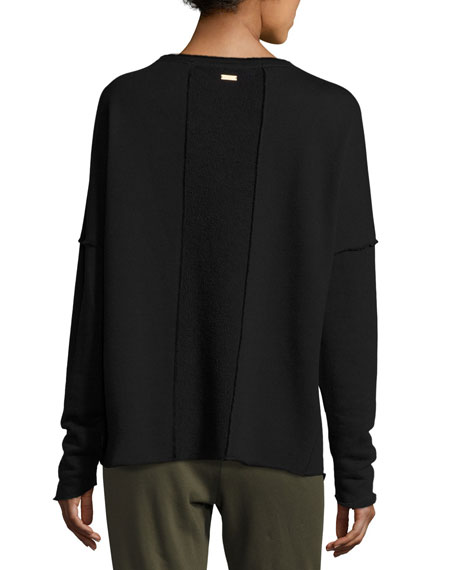 Exhale Sports Sweatshirt, Black