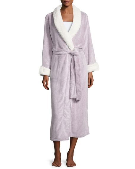 Natori Sherpa Long Lounge Robe, Lavender