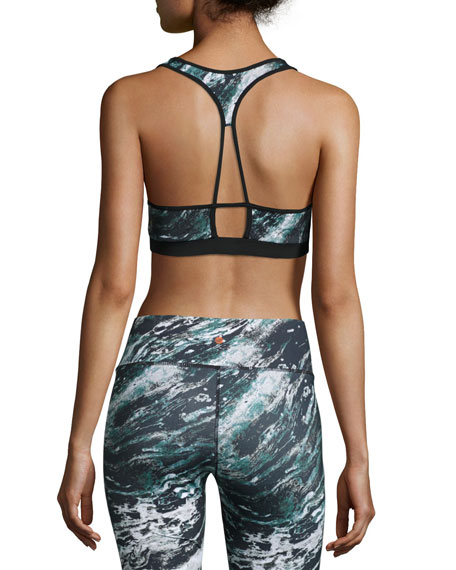 Printed Maverick Sports Bra, Marble