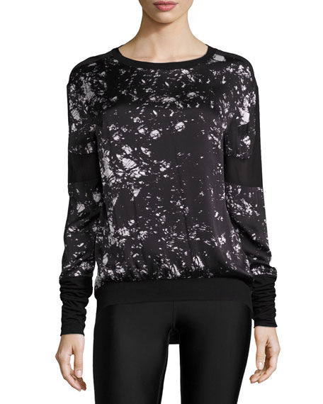 On Tour Printed Mesh-Panel Sweatshirt