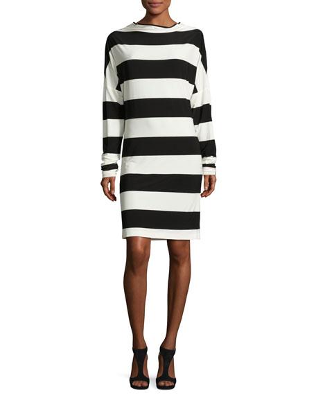 Norma Kamali All-in-One Striped Dress