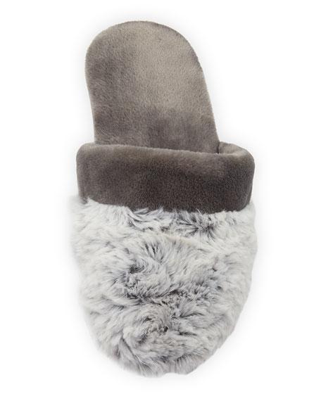 Fuzzy-Trim Mule Slipper