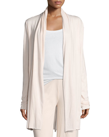 Short Pima Cotton Wrap Robe