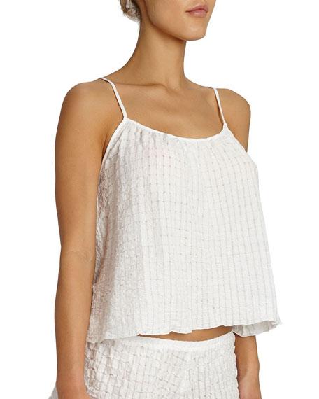 Paz Waffle-Knit Lounge Camisole, White