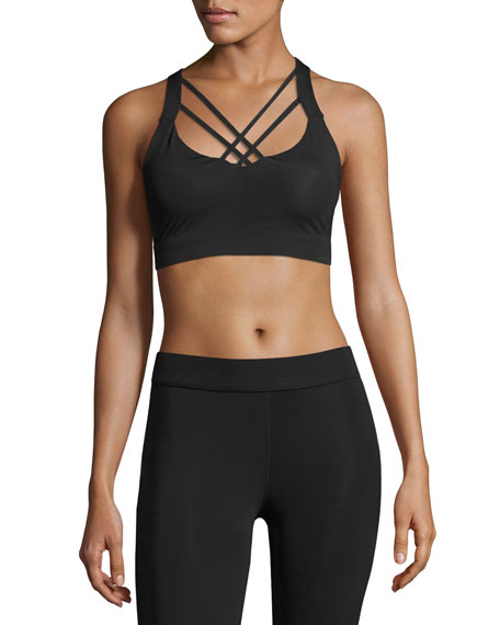 Cushnie Et Ochs Gaia Strappy Sports Bra, Black