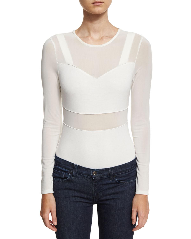 8b71308057e Kendall + Kylie Bralette Mesh Thong Bodysuit