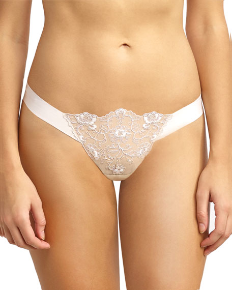 Crown Embroidary Thong