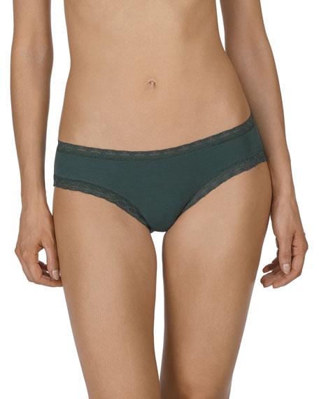 Natori Bliss Girl Lace-Trim Bikini Briefs